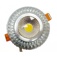 LED св-к LEDEX кр. COB light 6W-480lm-RGB-Silver-(LX-102541)