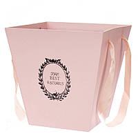 Коробка-сумка для цветов 0314J/pink