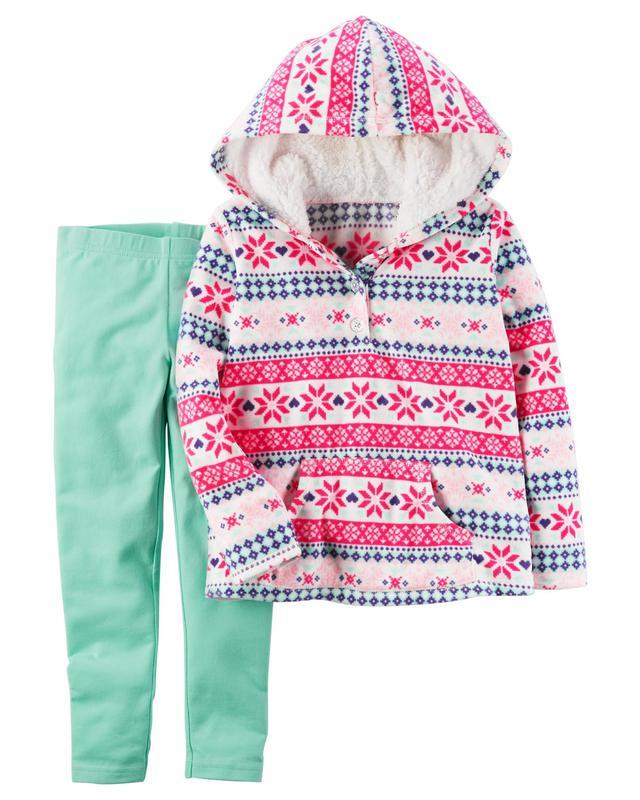 Леггинсы + Флисовая кофта Carters для девочки