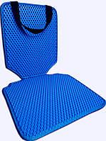 Защитный коврик под детское автокресло. Цвет синий. Детские автокресла, аксессуары