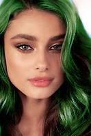 Спрей - яркие зеленые локоны