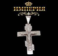 Крест мужской прямой серебряный 5 г