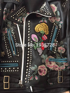 Женская куртка  Итальянский кож зам копия Gucci, фото 2