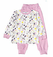 "Пижама ""Лоси"" розовая, интерлок,104-134"