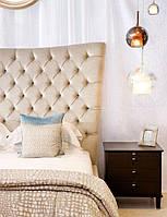 Мягкие изголовья для кровати  нежного цвета