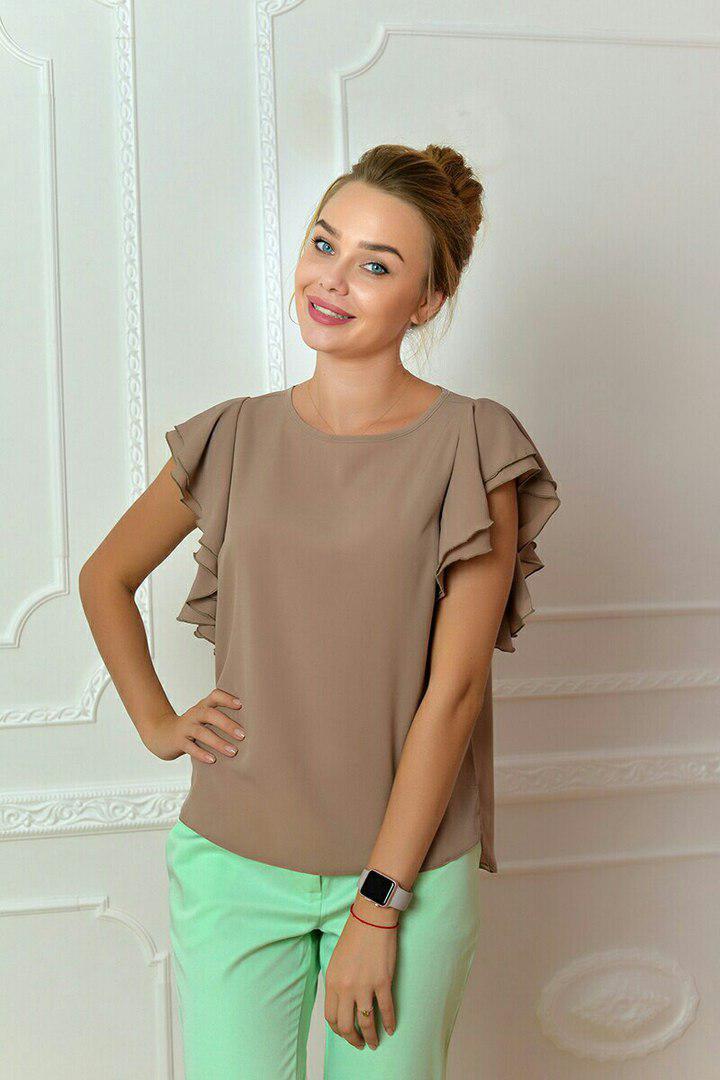 Блуза женская, модель 902, цвет - кофе с молоком