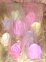 Мыло РОЗА разных цветов, прекрасный подарок женщинам