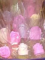 Мыло РОЗОЧКА разных цветов, ручная работа