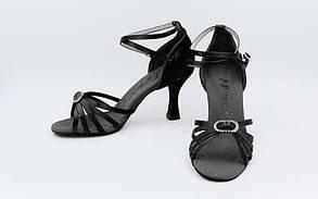 Обувь для танца (латина женская) LD2041-BK. 39 размер. Акция. Распродажа!