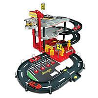 Игровой набор Гараж Ferrari (3 Уровня, 2 Машинки  1:43) Bburago (18-31204)