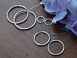 Серебряные серьги - кольца, фото 5