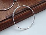 Серебряные серьги - кольца, фото 6