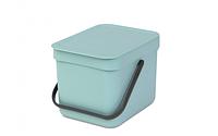 Ведро для мусора Sort&Go, 6 л, зеленое (109645)