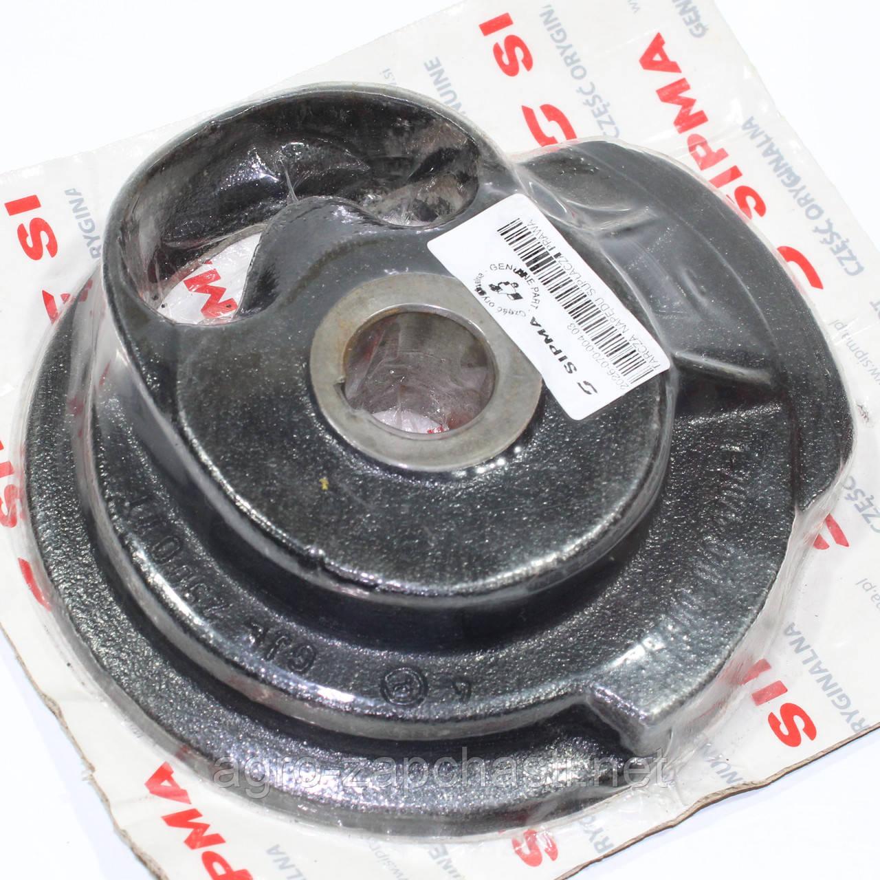 Тарелка (диск, ступица) привода вязального аппарата пресс-подборщика Sipma - правая [Оригинал] 2026-070-004.03