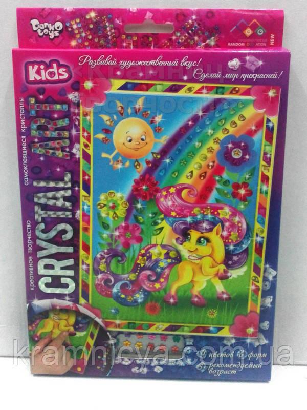 Алмазная мозаика (детская серия) Пони желтая (CArt-01-07)