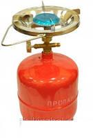 Примус Газовая печка портативная с баллоном на 2,4 литров, огонь под рукой