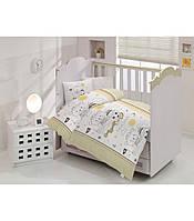"""Детский комплект постельного белья в кроватку ALTINBASAK """"Teddy"""" Kahve"""