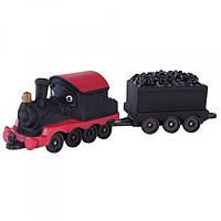 CHUGGINGTON Паровозик Пит с вагоном для угля