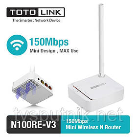Wi-Fi Mini Роутер Totolink N100RE-V3 (150Мбит/с)