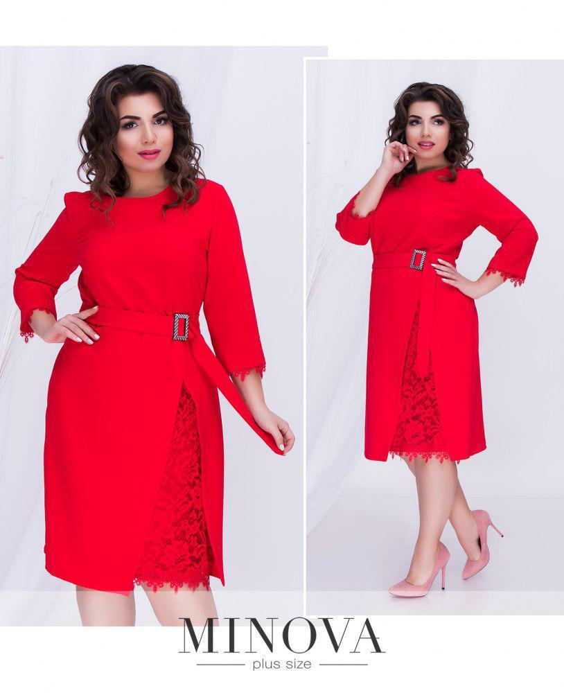 Платье женское батал от ТМ Minova  Размеры: 50,52,
