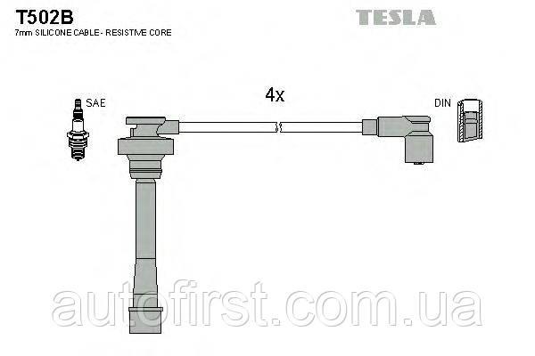 Комплект высоковольтных проводов Tesla T502B для Mitsubishi