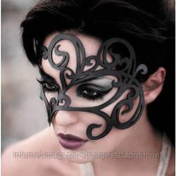 Ажурна шкіряна маска