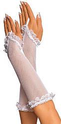 Жіночі рукавички (біла сітка)