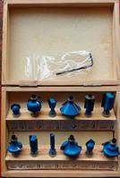 Набор фрез Хартех Фрезы 12шт (8 цанга) Деревянный кейс