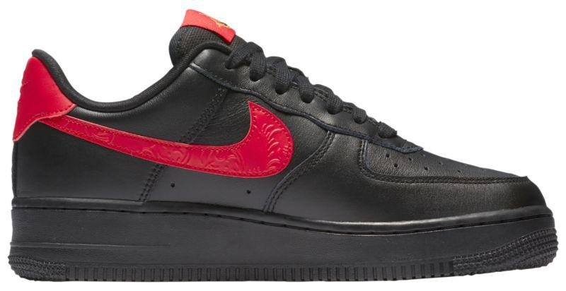 Кроссовки Кеды (Оригинал) Nike Air Force 1 07 LE Low Black University Red b243e61f4a6fb