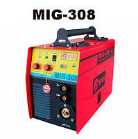 Полуавтомат сварочный  MIG-308 Инверторный сварочный полуавтомат + Сварка Электродами + Еврорукав в Комплекте  !!! При оплате на карту -- для Вас
