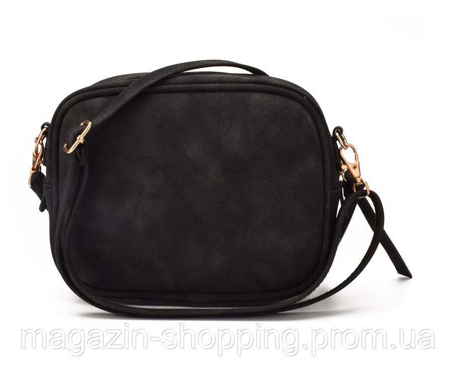 Сумка клатч женская черная замшевая код 3-330 - Интернет-магазин