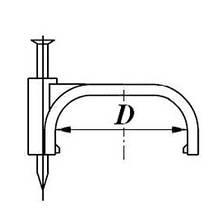 Скоба (клипса) кабельная плоская  D-16 mm, фото 2