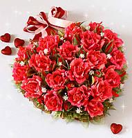 Подарок любимой - сердце из конфет с Рафаэлло Rafaello