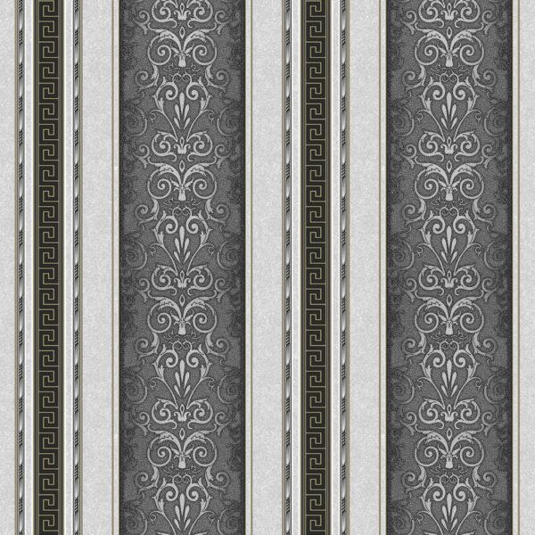 Шпалери паперові Континент Версаче компаньйон сірий 1279