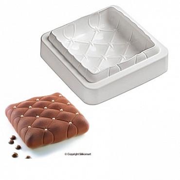 """Силиконовая форм для выпечки и заморозки """" Торт подушка 17*17 см h 4 см"""""""