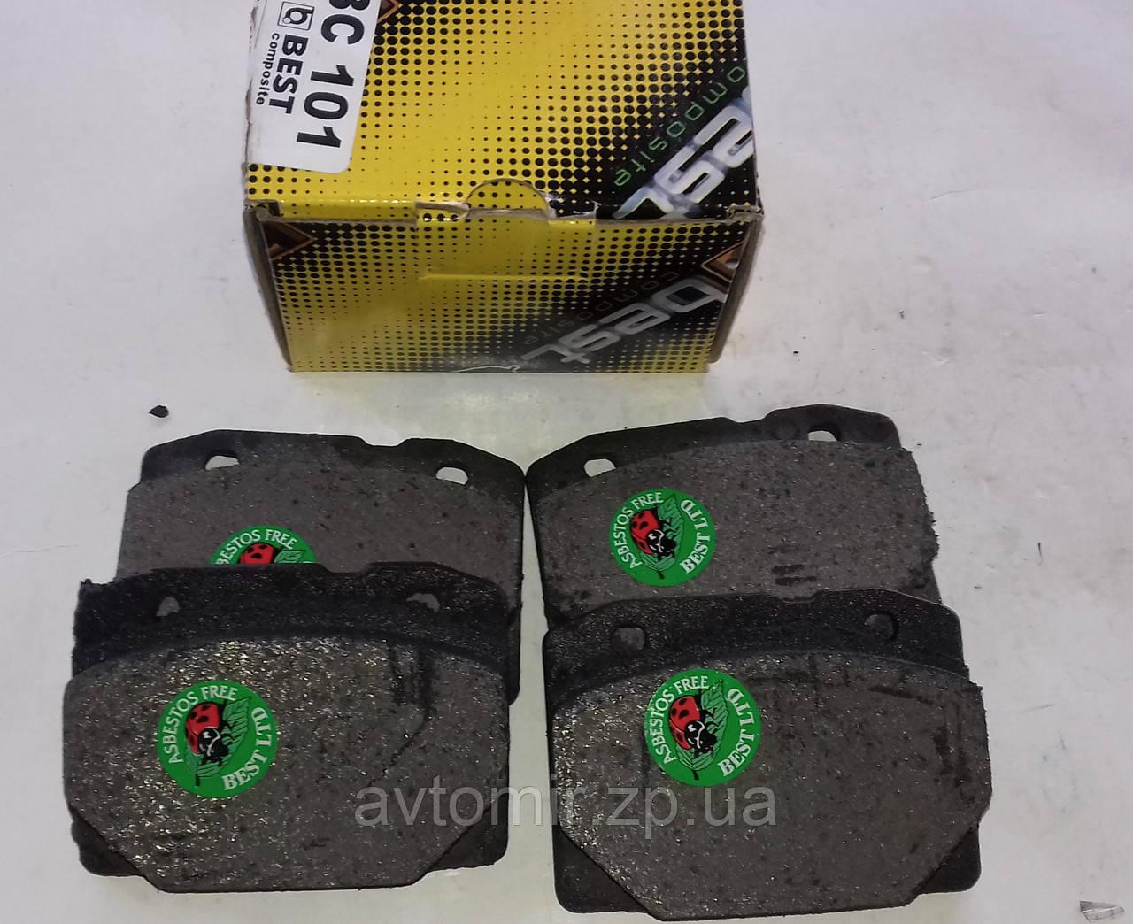 Колодки тормозные передние ваз 2101 2102 2103 2104 2105 2106 2107 Best, фото 1