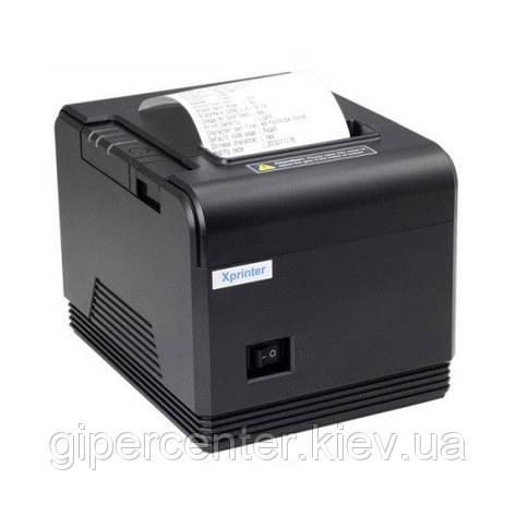 Принтер чеков Xprinter XP-Q800 с автообрезчиком, фото 2