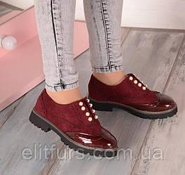 Туфли лоферы Эко-замш+эко-лак + (3 цвета)