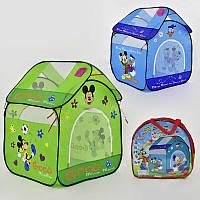 Детская игровая палатка Домик Микки, зеленая