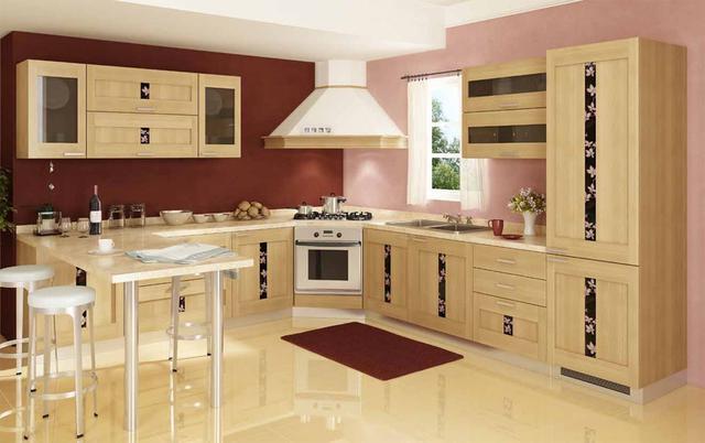современные кухни из дерева фото