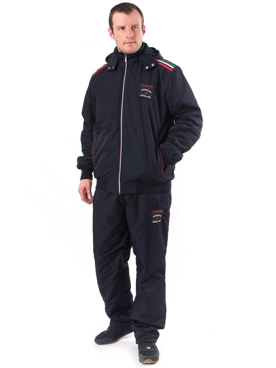 Мужской теплый спортивный костюм плащевка на флисе т.м. Fore 1146