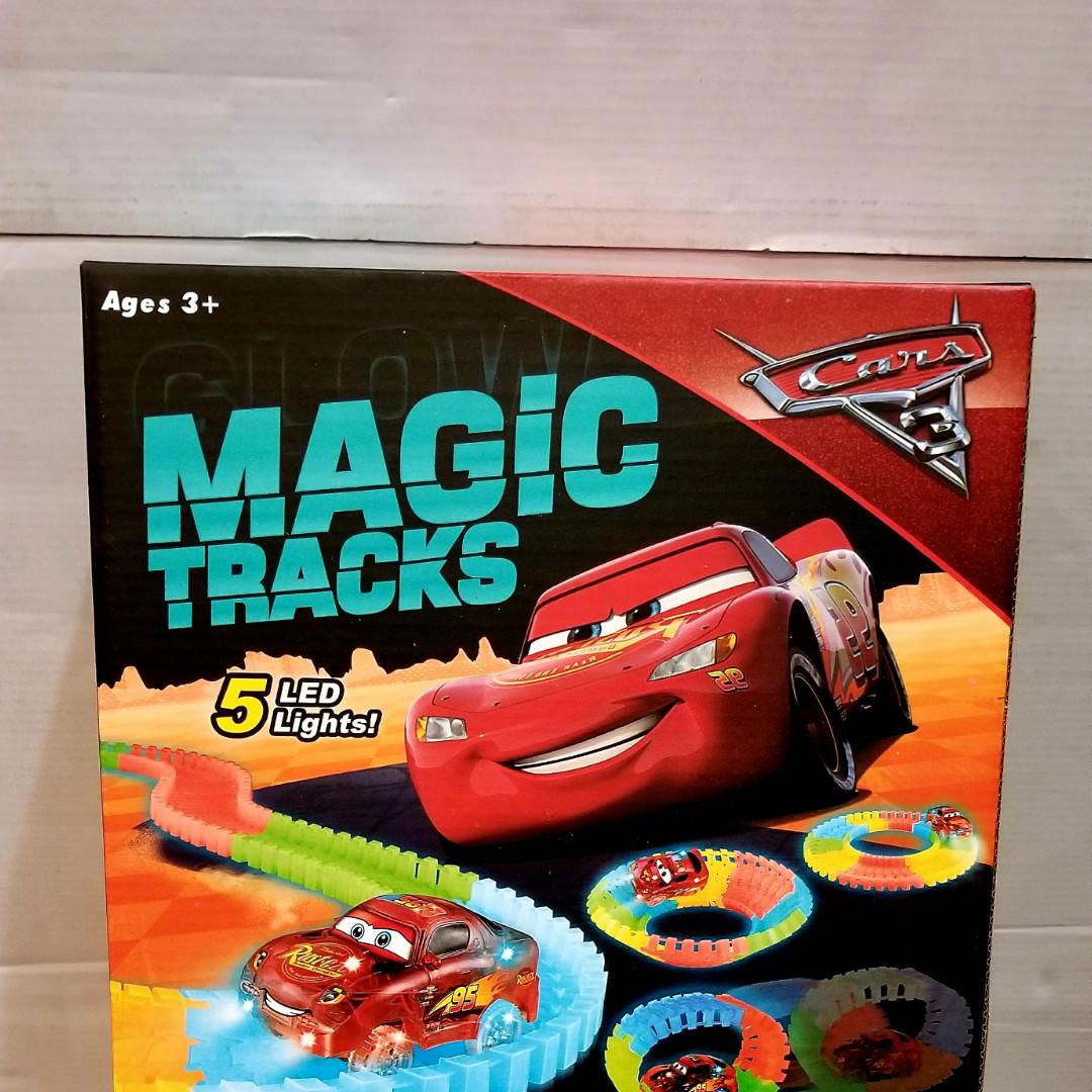 Тачки трек – Magic Tracks новинка 165  деталей, Светящаяся гибкая гоночная трасса