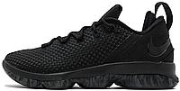 Баскетбольные кроссовки Nike LeBron 14 Low Black Найк Леброн черные