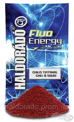 Прикормка  Чили-кальмар Флюо энергичный 0,8 кг.