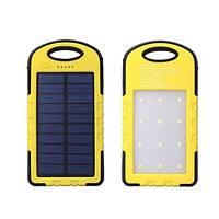 Power Bank Solar Led Panel 2USB(1A+1A) 6000 mAh для мобильного телефона