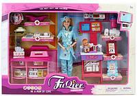 Игровой набор доктора с куклой JX100-28