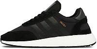 """Мужские спортивные кроссовки Adidas Iniki Runner Boost """"Core Black"""" (Адидас) черные"""