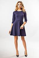 Темно-синее платье с рельефами, фото 1