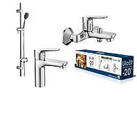 Набор смесителей в ванную 3 в 1 Imprese kit20080