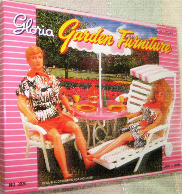 Кукольная мебель Глория Gloria 3920 Садовая мебель Пикник или Дача